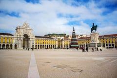 Le commerce Praca carré font Comercio à Lisbonne Photos stock