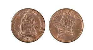 Le Commonwealth of the Bahamas une pièce de monnaie de cent photographie stock