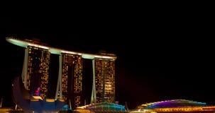 Le compartiment de marina sable l'hôtel et le casino Images stock