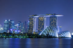 Le compartiment de marina sable Singapour Image stock