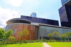 Le complexe de Conseil Législatif, Hong Kong Photographie stock libre de droits