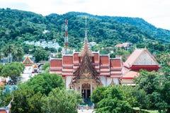 Le complexe de temple de Wat Chalong à Phuket, Thaïlande image libre de droits