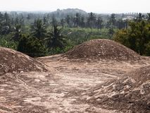 Le complexe de temple de Hampi, un site de patrimoine mondial de l'UNESCO dans Karnataka, Inde photos libres de droits