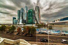 Le complexe du ` de ville de Moscou de ` de bâtiments Images stock