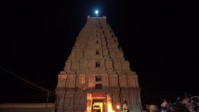 Le complexe principal de temple dans Hampi la nuit banque de vidéos