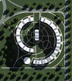 Le complexe résidentiel 3D rendent Images stock