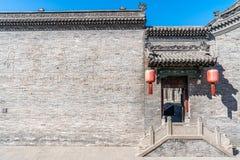 Le composé de Qiaojia dans la province de Shanxi, résidence chinoise antique de ChinaAn d'un négociant a donné un nom de famille  photo libre de droits