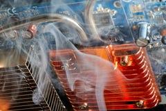 le composant a endommagé le PC électronique Image stock