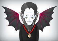 Le compte Dracula est un vampire avec du charme de Halloween illustration de vecteur