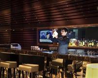 Le compteur de bar du hôtel Image stock