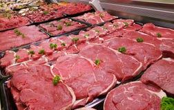 Le compteur du boucher Photographie stock libre de droits