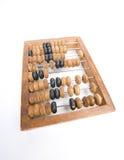 Le compteur en bois d'isolement image stock