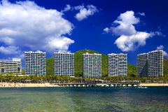 Le comunità vicine della spiaggia Immagini Stock