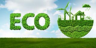 Le concept écologique de l'énergie propre - rendu 3d illustration libre de droits