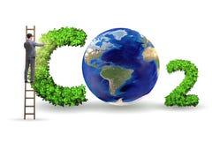 Le concept écologique des émissions de gaz participant à l'effet de serre photos stock