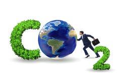 Le concept écologique des émissions de gaz participant à l'effet de serre images stock