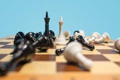 Le concept d'échiquier et de jeu des idées et de la concurrence d'affaires Images libres de droits