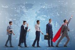 Le concept d'affaires avec l'homme progressant par des étapes Image stock