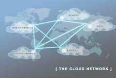 Le concept d'affaires de réseau global Illustration Libre de Droits