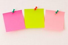 le concept d'affaires note le rappel trois Photographie stock libre de droits