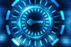 Le concept 3d de sécurité de Cyber rendent Images stock