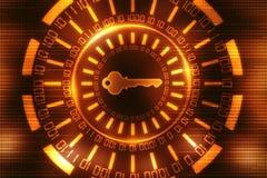 Le concept 3d de sécurité de Cyber rendent Photo libre de droits
