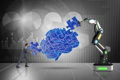 Le concept d'intelligence artificielle avec l'homme d'affaires illustration libre de droits