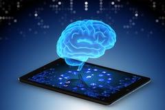 Le concept d'intelligence artificielle dans le rendu de la télémédecine 3d illustration libre de droits
