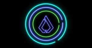 Le concept d'ouvrir la serrure numérique avec le symbole de cryptocurrency de Lisk LSK banque de vidéos