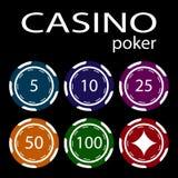 Le concept d'un casino Puces de casino Images stock