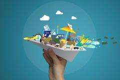 Le concept de bonnes vacances image libre de droits