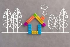 Le concept de Chambre avec du plastique bloque le jouet jpg Photo stock
