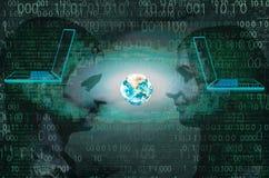 Le concept de communication mondiale sur l'Internet Photo libre de droits