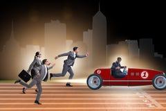 Le concept de concurrence avec des gens d'affaires de concurrence Image stock