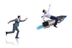 Le concept de concurrence avec deux hommes d'affaires Photos libres de droits