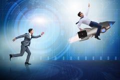 Le concept de concurrence avec deux hommes d'affaires Image libre de droits