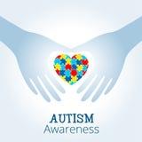 Le concept de conscience d'autisme avec le coeur du puzzle rapièce Illustration Libre de Droits