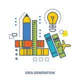 Le concept de construction - la génération des idées et de la pensée créative Images stock