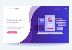 Le concept de développer l'interface mobile d'UI/UX Industrie de Digital Innovations et technologies illustration de vecteur