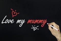 Le concept 2018 de dessin de craie - aimez-vous maman Image stock