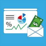Le concept de Finans d'affaires, ceci est une image générée par ordinateur rendue par 3d illustration de vecteur