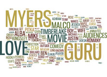 Le concept de Guru Text Background Word Cloud d'amour Images stock