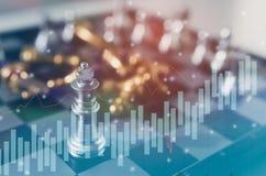 Le concept de jeu de société d'échecs des idées et la concurrence d'affaires et la stratégie prévoient la signification de succès Images libres de droits