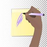 Le concept de l'étude La main écrit illustration stock