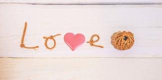 Le concept de l'amour pour le rétro fond Photo stock