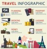 Le concept de l'infographics pour des affaires de voyage Élément d'Infographic illustration libre de droits