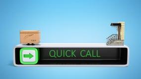 le concept de l'ordre de la livraison rapide sous la porte d'a Photographie stock libre de droits