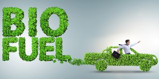 Le concept de la bio conservation de carburant et d'écologie photographie stock