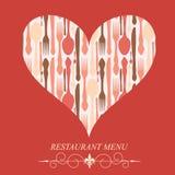 Le concept de la carte de restaurant Photo libre de droits