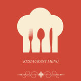 Le concept de la carte de restaurant Photos stock